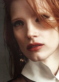 """Jessica Chastain as Christian Stewart. """"If you play, please go on. Music's my joy and my obsession."""" __The Chronicles Book 1 - The Game of Kings."""