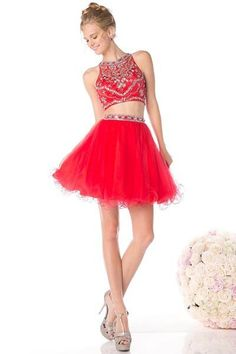2 PIECE SHORT SHOW STOPPER HOMECOMING PROM DRESS