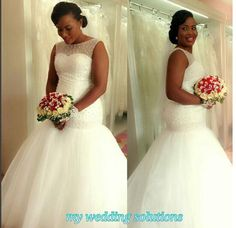 Image result for Laced wedding gown medium size for African
