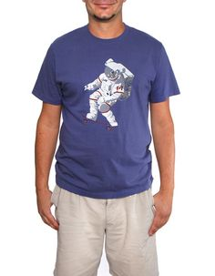Men's Chris Hadfield x 60°N 95°W Skateboarding Astronaut graphic t-shirt | #skateboard #astronaut #space #tshirt