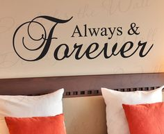 Always and Forever Love Bedroom Family by DecalsForTheWall on Etsy, $22.97