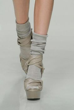 socks with heels. wearing socks that compliment you heels can give a boot look for cooler weather without wearing heavy boots. hmm. surprisingly cute.