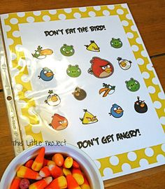 Angry Birds Game--Like don't eat Pete--free printable game!