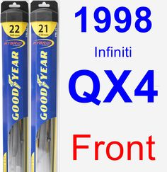 Front Wiper Blade Pack for 1998 Infiniti QX4 - Hybrid
