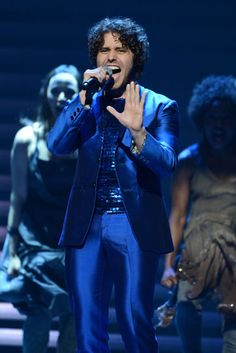 """Nominee Josh Young and the cast of """"Jesus Christ Superstar"""" performing at the 2012 Tony Awards.  Andrew Walker/WireImage"""