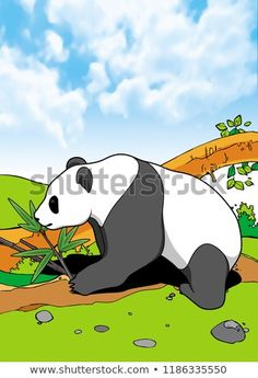 Giant Panda Mammals Animal Illustration with smooth graphics and full coloring. So that the illustration of this Giant Panda animal will be interesting when used as an image of supporting material, or to be seen. Mammals, Panda, Royalty Free Stock Photos, Coloring, Smooth, Graphics, Animal, Illustration, Pictures