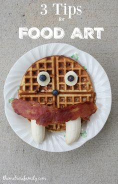 3 Tips for Food Art that will have your kids squealing with delight and you breathing a sigh of relief. Cooking With Kids Easy, Healthy Eating For Kids, Cute Food, Good Food, Yummy Food, Christmas Morning Breakfast, Breakfast Time, Food Garnishes, Recipes From Heaven