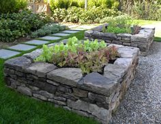 Raised beds from stone