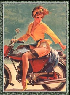 Pin Up Moto by Lexinatrix, via Flickr