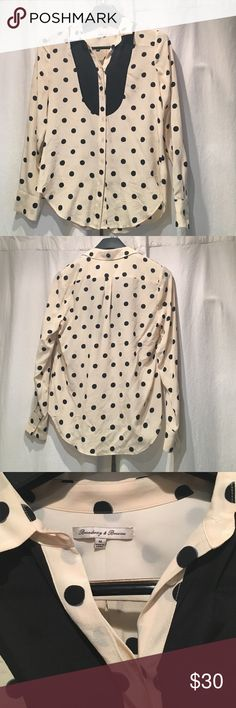 Madewell Polka Dot Tux Shirt Silk polka dot shirt from Madewell. 100% silk! Worn just a few times. Madewell Tops Blouses