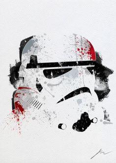 Arian Noveir's Splatter paint Star Wars Poster - Stormtrooper
