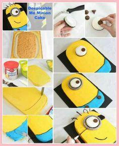 How To Make Despicable Me Minion Cake