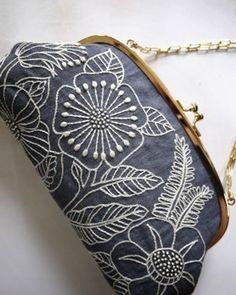 textile. japan. white on gray
