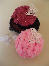 Hydrangea cupcakes, craft, weddings, cake-stand welshdresser