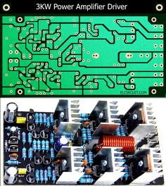 3kW or 3000 Watts power amplifie , in this article just share about the driver circuit PCB. For transistor booster / final transistor using 8 set SANKEN 2SC2922 and 2SA1216, wiring booster transistor see here : Booster / Final Transistor Amplifier.