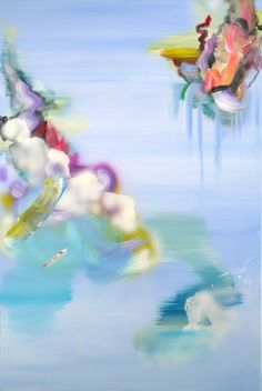 Justyna Pennards-Sycz, Physalia Physalis learning to fly, #6, mixed media on canvas, 120 x 80, 2013