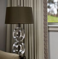 Finish draperies with a simple flat tape. Serenity Collection by Brimar. #brimar #trim