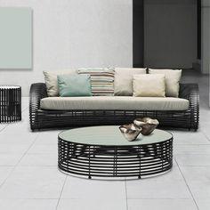 Loungetisch Lolah 120 cm, oval (brown/whitewash) von Kenneth Cobonpue