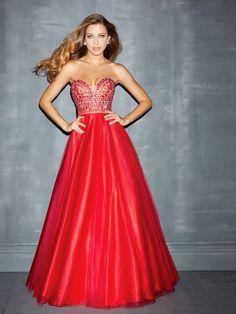 Glamorous Red Strapless Sleeveless Tulle Bat Mitzvah Dresses at buytopdress.com