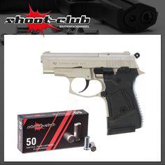 """Zoraki Modell 914 satina Schreckschusspistole   inkl. 50  Platzpatronen """"shoot-club""""    - weitere Informationen und Produkte findet Ihr auf www.shoot-club.de -    #shootclub #pistol #guns #Blankgun #ammunition"""