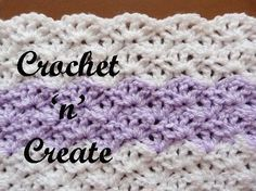 Open Shell crochet can be used for a variety of projects such as shawls, blankets, home decor etc. Open Shell Crochet I have used 2 colors for the sample and a hook. Stitches Used ch. Crochet Afghans, Crochet Prayer Shawls, Crochet Stitches Free, Crochet Shell Stitch, Afghan Crochet Patterns, Knit Or Crochet, Learn To Crochet, Baby Blanket Crochet, Double Crochet