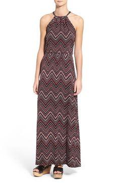 Loveapella Halter Neck A-Line Maxi Dress