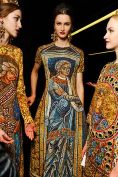 Backstage @ Dolce and Gabanna Fall 2013