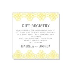 Wedding Gift Registry on Pinterest Gift Registry, Bride Gifts and ...