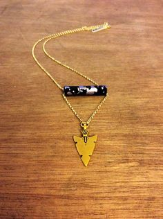Arrowhead+Disco+Necklace+by+Byachadjewelry+on+Etsy