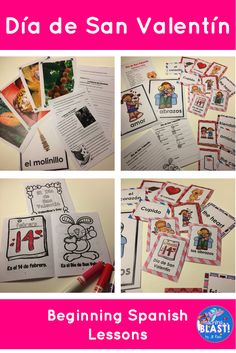 Chocolate informational text and reading comprehension questions! Vocabulary lessons for Día de San Valentín in February. Lesson plans, vocabulary cards, and a mini-book to read and color. Beginning Spanish for elementary.