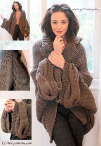 Oversized cabled cardigan