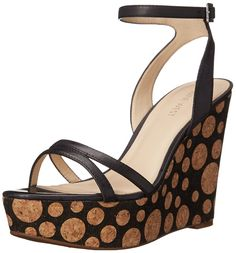 Nine West Women's Anadulo Leather Wedge Sandal >>> Details can be found by clicking on the image.