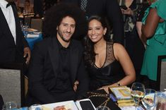 Colin Kaepernick (L) and Nessa attend Robert F. Kennedy Human Rights Hosts Annual Ripple Of Hope Awards Dinner on December 13, 2017 in New York City. - Robert F. Kennedy Human Rights Hosts Annual Ripple of Hope Awards Dinner - Inside