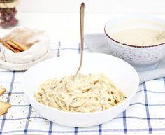PASTA ALFREDO Salsa Alfredo, Pasta, Spaghetti, Ethnic Recipes, Food, 2 Ingredients, Vegetarian Recipes, Vegans, Nutritional Yeast