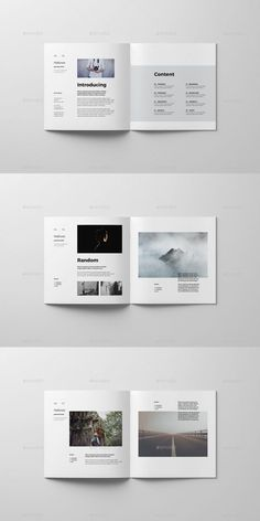 Brochures Book Posters - Photography, Landscape photography, Photography tips Portfolio Design Layouts, Book Design Layout, Print Layout, Travel Book Layout, Poster Layout, Mise En Page Portfolio, Portfolio Book, Brochure Layout, Brochure Template