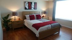 Beautiful bedroom staged by Maximum Impact Plus