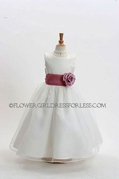 Flower Girl Dress Style 2022-BUILD YOUR OWN DRESS! Choice of 139 Sash and 51 Flower Options!