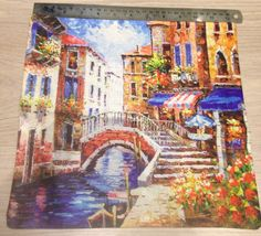 Designer painting lounge cushion cover Venice Italy design limited edition in Home, Furniture & DIY, Home Decor, Cushions | eBay