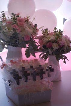 Pink & white 1st Communion
