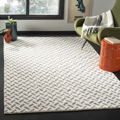 Laurel Foundry Modern Farmhouse Billie Hand-Tufted Wool/Cotton Gray/Ivory Area Rug Rug Size: Rectangle x Modern Rugs, Modern Decor, Diy Carpet, Beige Carpet, Carpet Ideas, Accent Rugs, Online Home Decor Stores, Basket Weaving, Colorful Rugs