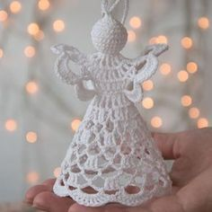 Crochet Angel Pattern PDF DIY Craft Christmas gift Baptism gift Wedding gift Religious gift Home decoration Tree ornament Mother day gift Best Christmas Tree Decorations, Cool Christmas Trees, Christmas Angels, Christmas Settings, Christmas Crochet Patterns, Crochet Christmas Ornaments, Crochet Snowflakes, Christmas Crafts, Christmas Christmas