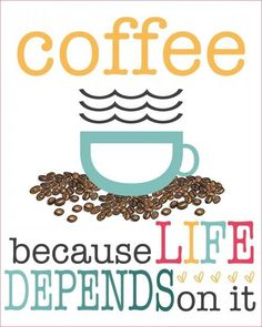 So true! Life definitely doesn't happen unless coffee is involved! #Coffee #MrCoffee #Quotes