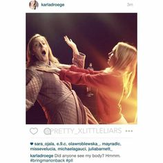 Karla Droege as Marion Cavanaugh and Jessica Belkin as Bethany Young Pretty Little Liars