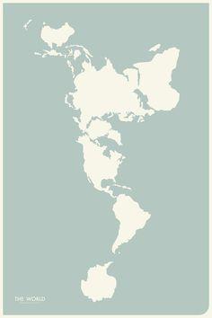 Dymaxion Map Art Print. So awesome.