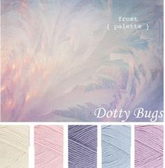ivory, shell, heather, sky, wisteria - My Gardening Space Yarn Color Combinations, Colour Schemes, Color Patterns, Colour Pallette, Color Palate, Mode Pastel, Ideias Diy, World Of Color, Color Swatches