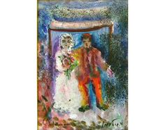 Hupa (Jewish wedding) by Albert Goldman now featured on ArtDealer