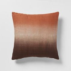 Dip-Dye Rainbow Silk Pillow Cover  Chestnut #WestElm