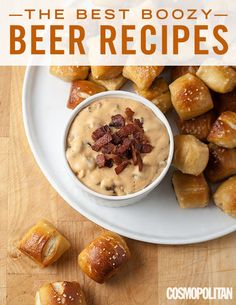 SUPER BOWL SUNDAY PARTY FOOD: Beer is a great ingredient for all kinds of savory and sweet dishes, adding flavor and texture everywhere it goes. So, if you're looking to booze up your food with a little beer, these 20 fabulous recipes have you covered. Here you'll learn how to make boozy beef stew, salted beer caramel blondies, beer bread, and more easy dinner, dessert, and appetizers featuring beer. Click through for the delicious, easy, and fun snack ideas you *need* for your Super Bowl pa...