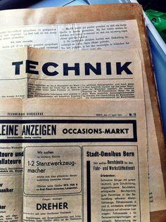 Swiss newspaper 1947 about technical machinery and metal fabrication via @designworkplan