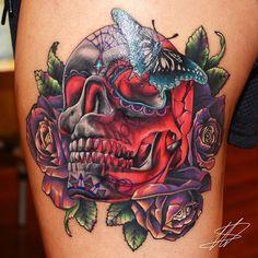 20 ultra colorful New School Tattoos   Tattoodo.com